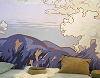 Mural 'Above the Clouds', for Meditation Center