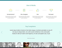 Website Design Layout for Awards Rating