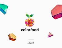Package design, visualisations and web for 'colorfood'