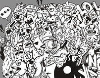 Yin & yang doodle design