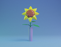 Lowpoly Origami Flowers