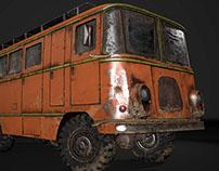 Zil 157 bus, 3D Game model (2015)