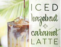 Drink Promotion: Iced Caramel Hazelnut Latte