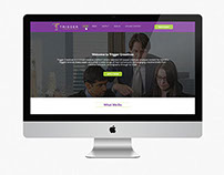 """"""" Trigger Creatives """" Home Page Design"""