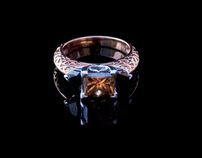BLACK / COGNAC DIAMOND RING