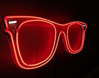 neon sign for corporate Ray Ban party