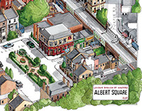 Eastenders Albert Square map