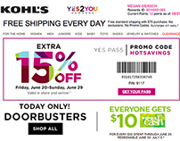 Kohl's Email Designs