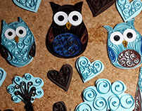 Quilled Owl mobile
