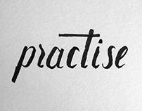 Hand lettering practice vol. 1