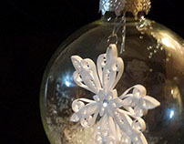 Captured Quilled Snowflake ornament