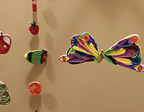Hungry Caterpillar quilled mobile