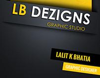 Visting Card for LBDezigns (www.facebook.com/lbdezigns)