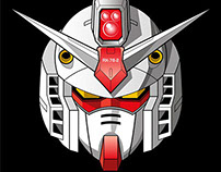 Gundam Head Vector Illustrations