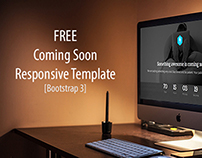 Free Coming Soon Responsive Template (Bootstrap3)