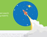 'Rocket' website illustration & design