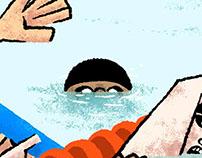 Mardi piscine / Illustration