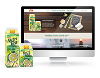 Nutri Tea Lemongrass and Ginger | Responsive Website