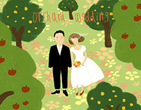 orchard wedding for my friend Jing