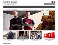 Morsepoint Designer Clothing website re-design