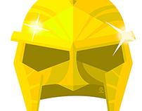 Immortals Helmet Flat minimalist Poster