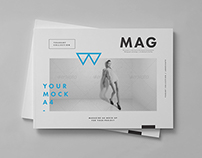 Horizontal Magazine Brochure Mock-up II