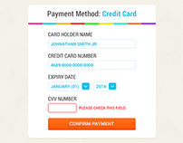 Freebie PSD: Checkout Payment Method