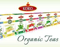 Organic teas packaging design