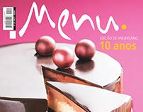 Mousse Cake - Menu Magazine (Cover)
