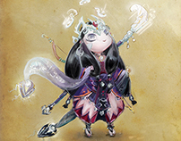 Oriental Snow White Character Design
