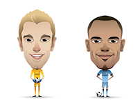 Manchester City player illustrations