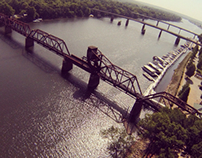 Train Trestle Aerial Photo