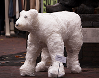 Plastic polar bear