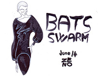 Bats Swarm - Total black outfits sketches