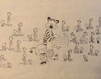 o caminhar de Calvin e Haroldo