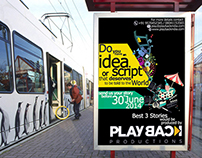 A3 Poster for Playback Productions -Promotional Element