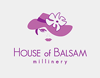 Logo & Business Card Design: House of Balsam Millinery