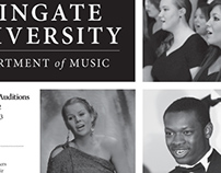 Wingate University Music Department Advertisement