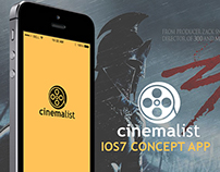 Cinemalist ios7 app concept
