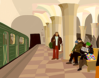 "Moscow Subway ""Kropotkinskaya Station"""