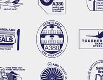Lufthansa A380 passport stamps