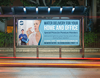 Delivery Drinking Water Service Billboard Template