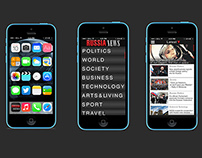 Mobile App Layout || News App