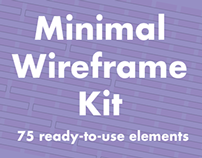 Minimal Wireframe kit for Illustrator