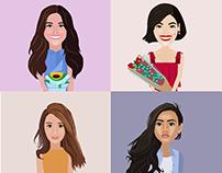 Liza, Anne, Kathryn, Nadine - Kapamilya Beauties