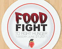Food Fight Poster Design