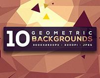 10 Free Geometric Backgrounds