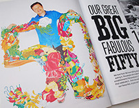 Foodie 50 Illustration for Jamie Oliver Magazine.