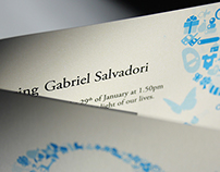 Baby G's announcement card
