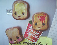 Fridge magnet toasts